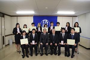 「平成29年度 学長賞・学生活動奨励賞」の表彰式が行われました。